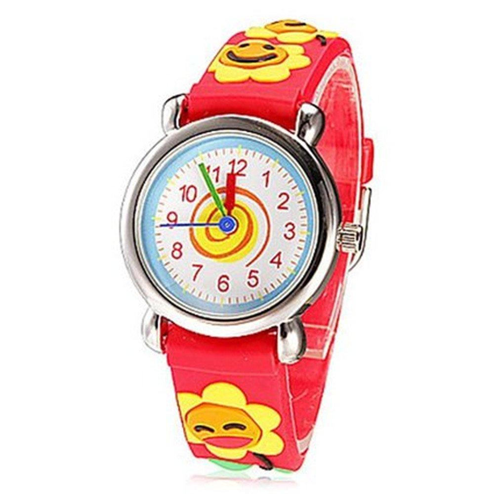 Fashion Brand Quartz Wrist Watch Baby Children Girls Boys Watch Smiling face Design Waterproof Watches