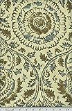 Portfolio Textiles - Anala - Henna - Florals - Blue/Brown - Fabric By The Yard