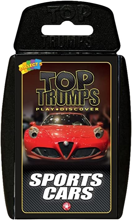 Top Trumps Sports Cars Trump Cards Game