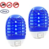 Fomei Bug Zapper Mosquito Killer - 2 Pack Plug-in Mosquito Zapper Mosquito Killer Night Lamp Non-Toxic LED Insect Pest Bug Mosquito Trap for Home, Indoor, Bedroom, Kitchen
