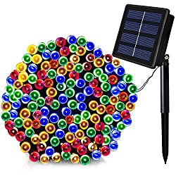 SOLARMKS Solar String Lights,72ft 200 LED Outdoor String Lights,8 Modes Solar Christmas Lights Outdoor Decorative Lighting for House Lawn Garden Wedding Patio Party Pool Area Xmas Tree