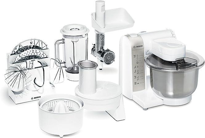 Bosch - Mum4880 - Robot De Cocina (600 W, Bol De Acero Inoxidable) Con Picador, Rallador, Exprimidor Y Dvd De Recetas Interactivo [Importado De Alemania] (Reacondicionado Certificado): Amazon.es
