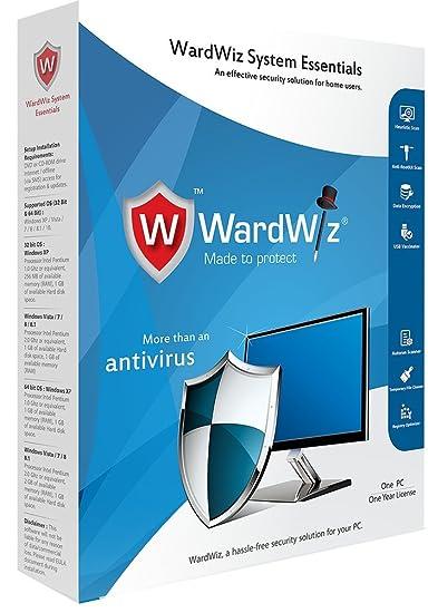 WardWiz System Essentials Anti Virus 1 Year , 1 PC (CD)