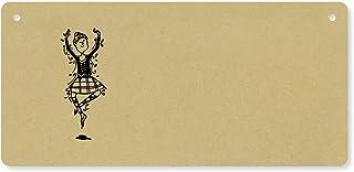 Azeeda 'Ballerino delle Highland' Targa in Legno / Segno Porta (DP00035357)