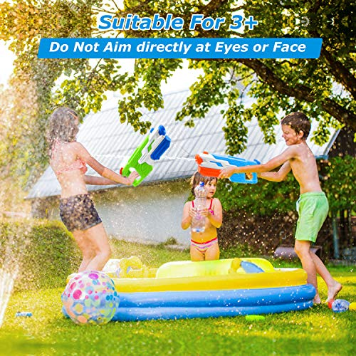 PESUMA Water Guns for Kids, 2 Pack Super Water Blaster Soaker Squirt Guns 800CC 33 Feet Water Gun Summer Swimming Pool Beach Sand Outdoor Water Fighting Play Toys Gifts for 3-12 Year Old Boys Girls