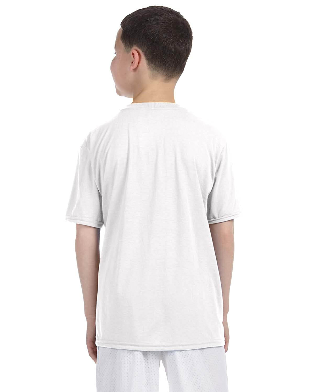 -WHITE G420B XL-12PK Gildan Boys Performance T-Shirt