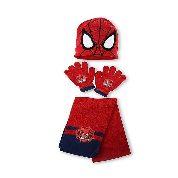 Spider-Man Ensemble Bonnet + Gants + écharpe Garçon  Amazon.fr  Vêtements  et accessoires f7b045ab34d