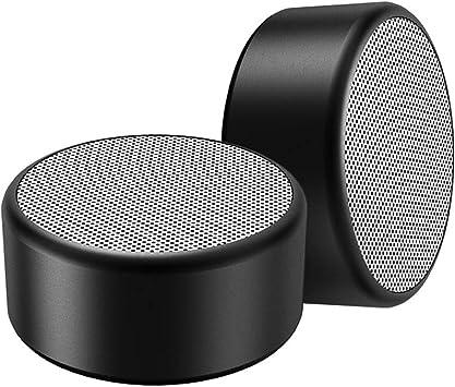 VIMUKUN Altavoz inalámbrico Bluetooth Mini Caja de Altavoces inalámbricos/ Altavoz Bluetooth con Tiempo de reproducción de 7 Horas, Rango de Bluetooth de 10 Metros y Bajos Fuertes (2, Negro): Amazon.es: Electrónica