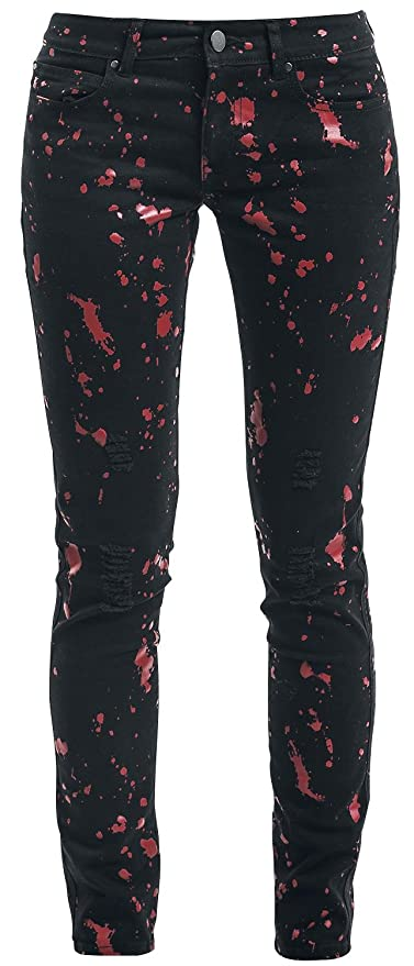 Full Volume by EMP Speckled Skarlett (Slim Fit) Girl-Jeans schwarz:  Amazon.de: Bekleidung