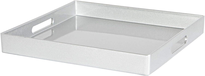 Finition m/étallique Argent 33cm Argon Tableware M/étallique carr/ée Plateau