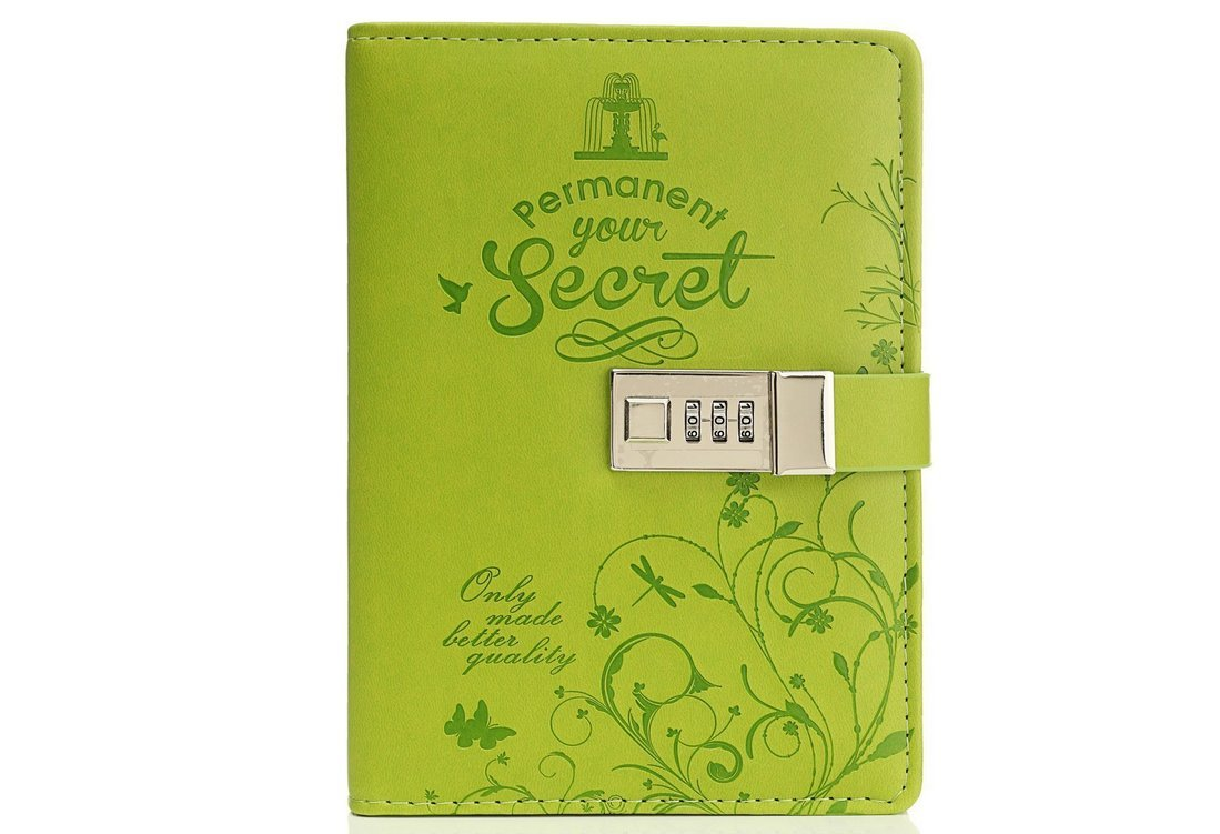 Omeny quaderno scrittura diario segreto con password Lock (verde)