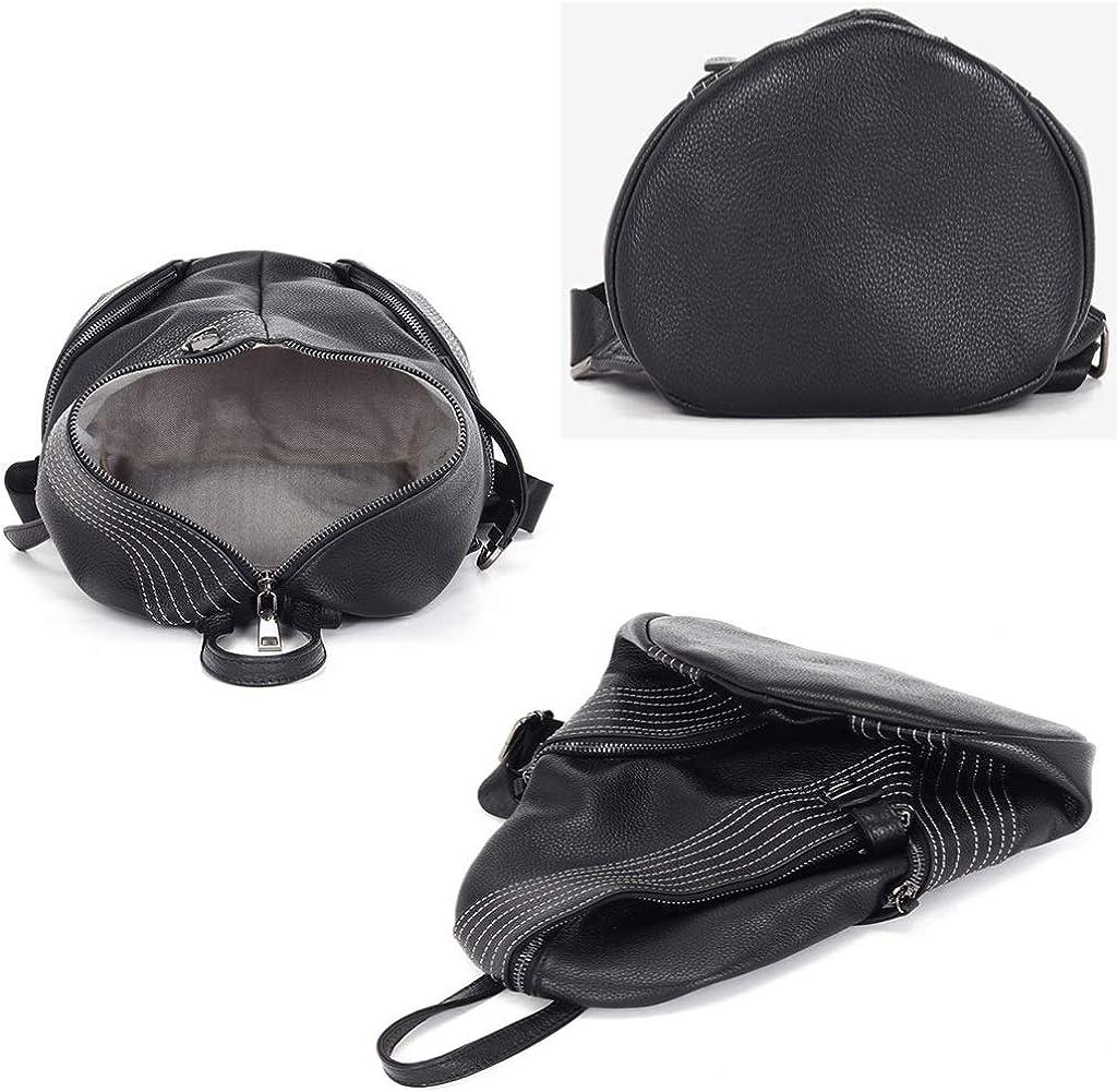 Frauen Softlederrucksack Komfortabler Commuter Bag Multifunktionale CasualShoulder Tasche Black
