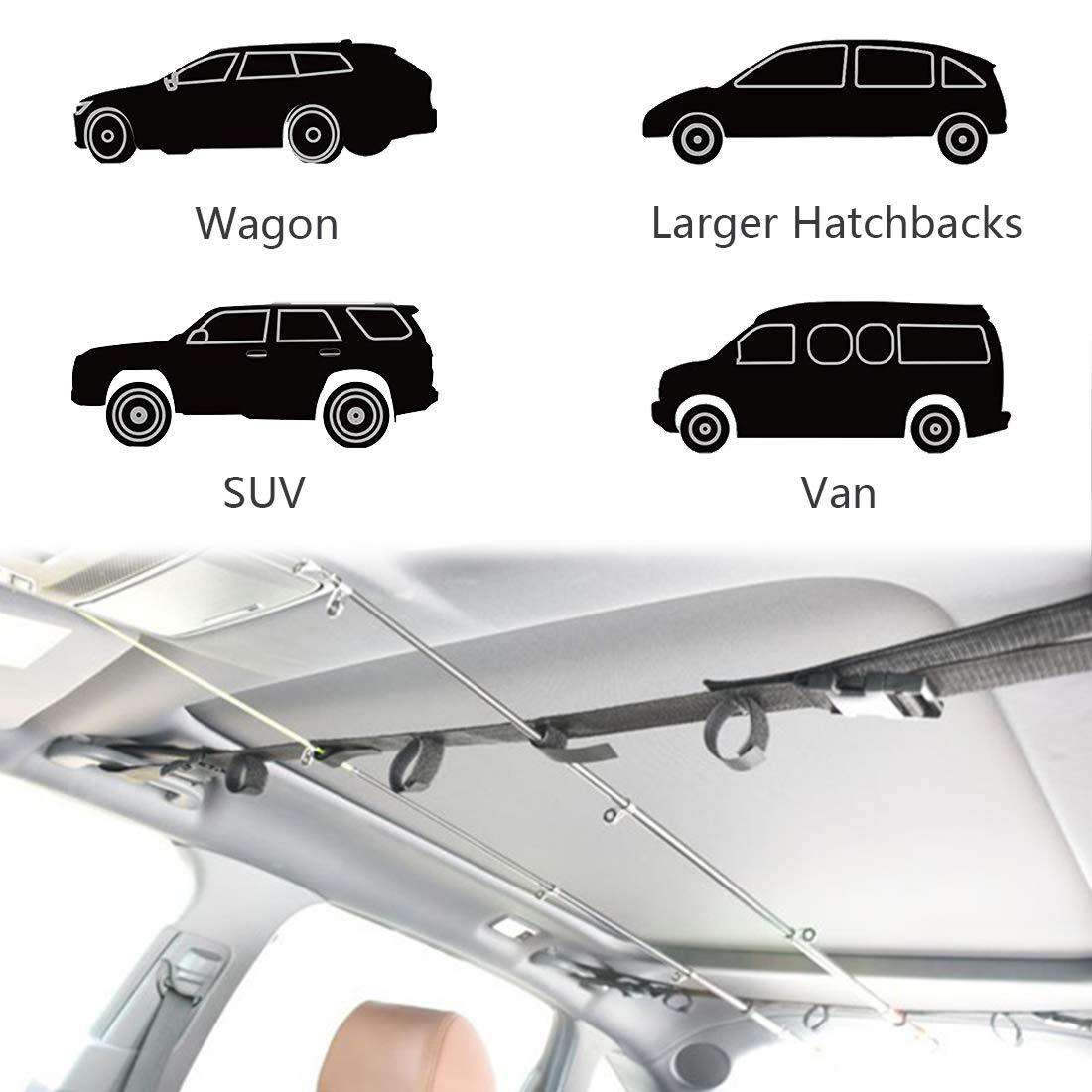 H/ält Ihre Angelruten Sicher Acoser Fahrzeug Rod Carrier System Angelrute Tr/ägerband Rutenhalter Gurtband Rutenhalter Rod Rack F/ür 5 Angelruten