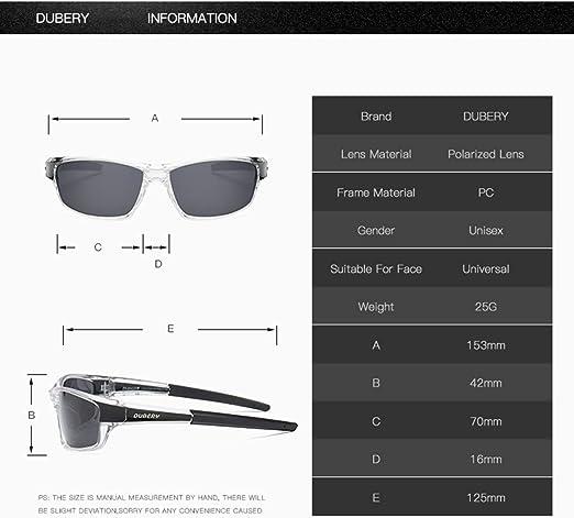DUBERY Men Polarized UV400 Sunglasses Outdoor Driving Fishing Sport Glasses New