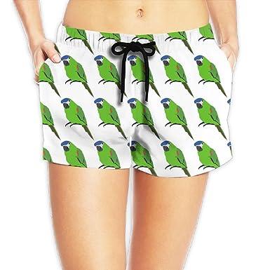 3cab153a3b Xuhuayan Green Parrot Women's Hot Pants Summer Casual Beach Shorts ...
