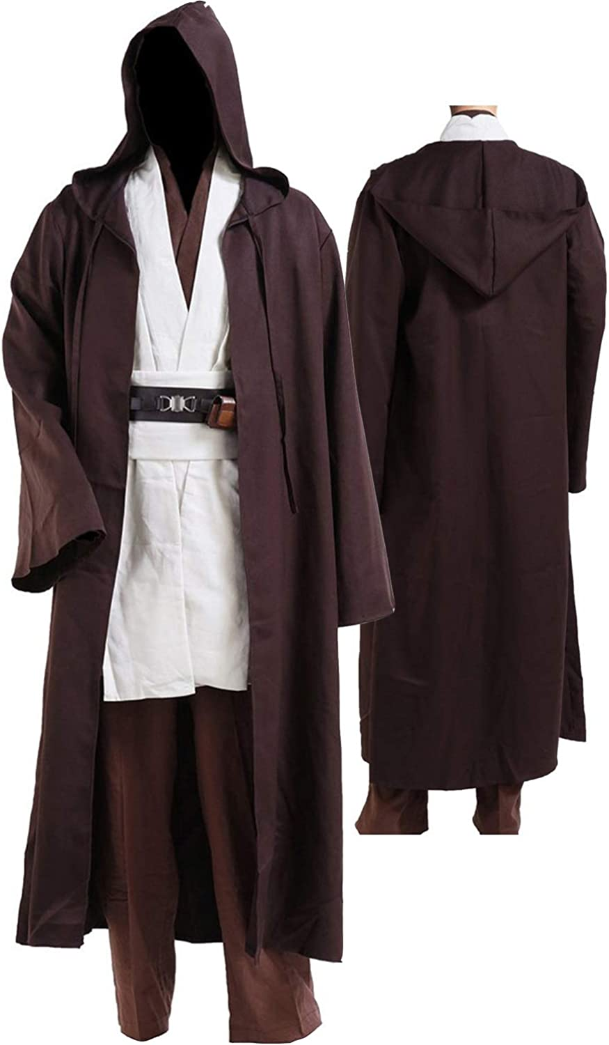 Tunic Costume Mens Tunic Hooded Robe Full Set Halloween Cosplay Costume
