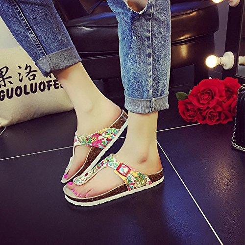 colore Taglia Pantofole Corta 18 1 Uk3 Donna Donne 40 Per Estive Scarpe Da In Haizhen Eu36 Anni 2 Le Cn35 Moda Sughero gTgZv8q