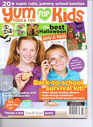 YUM For KIDS Food & Fun - The Best Halloween Party & Treats. Vol 3. #3. Fall 2012. -