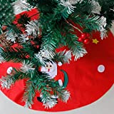 Amiley Christmas Tree Skirt , 2018 Christmas Santa & Snowman Non-woven Christmas Tree Skirts Party Decoration New Year Party Supply gift (:L:90cm90cm)