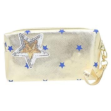 9e08328a494a Amazon.com   OWMEOT💖 Cosmetic Bag Women Letters Printing Makeup Toiletry  Storage Travel Wash Handbag (J)   Beauty