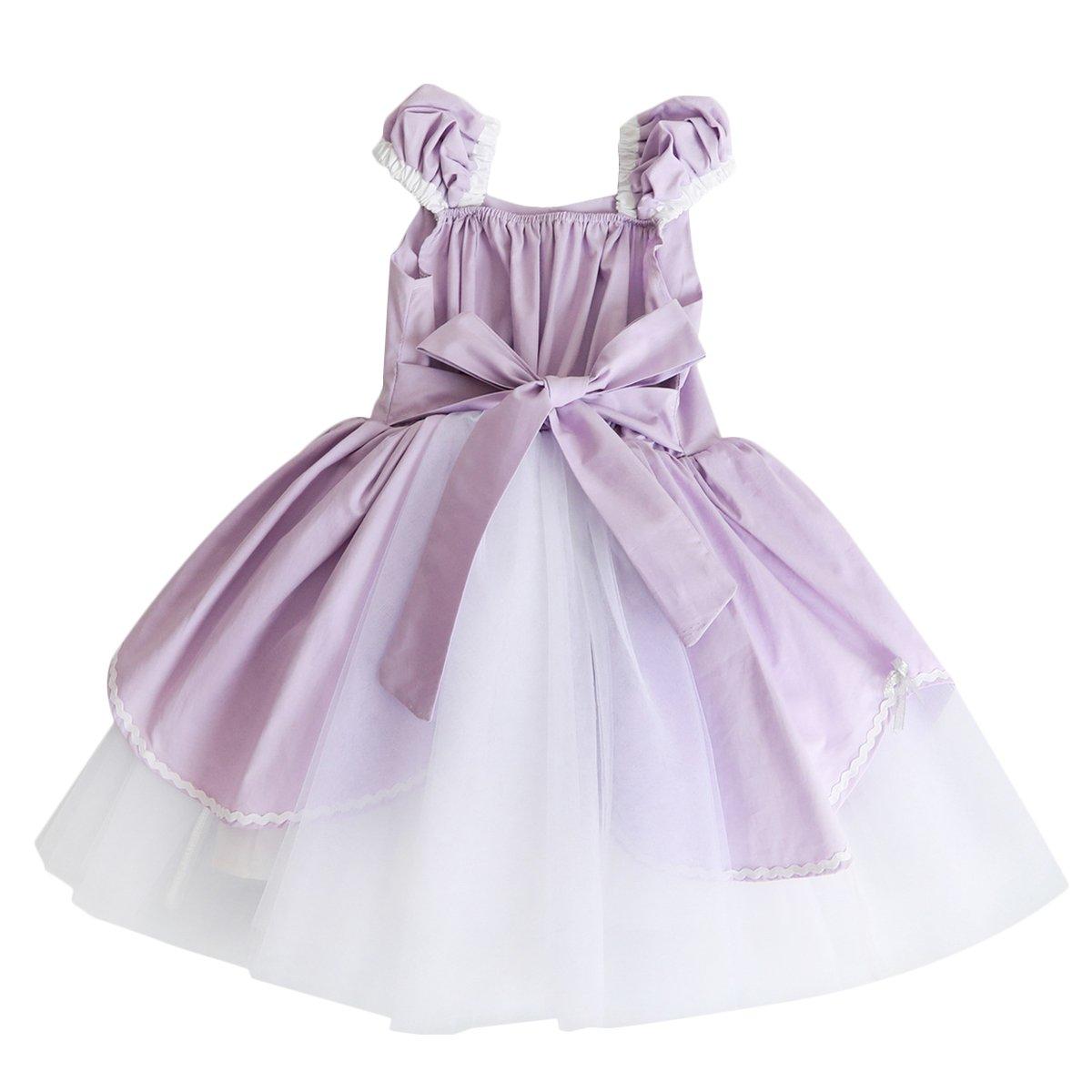 8f2e91c1f Kids Girls Princess Costume Cosplay Party Fancy Dress Up Aurora ...