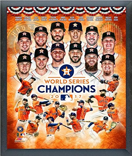 "Houston Astros 2017 World Series Champions Composite Photo (Size: 12"" x 15"") Framed"