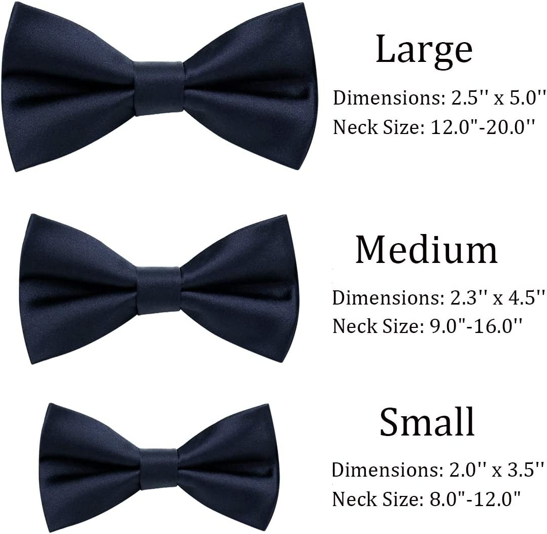 wirarpa Mens Classic Pre-tied Bow Ties Clip On Formal Solid Tuxedo Adjustable Bowtie Wedding Christmas Blue Medium 1 Pack