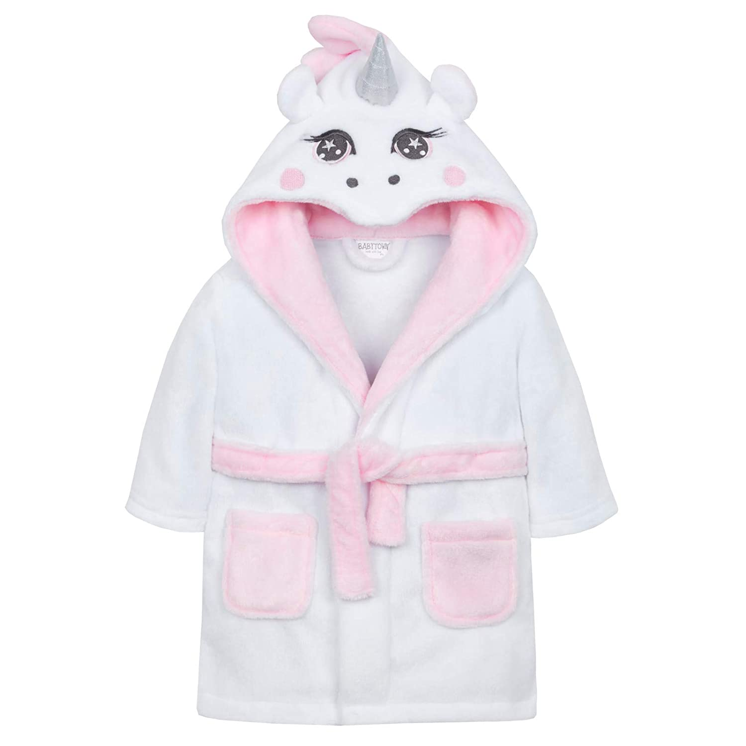 Baby Girls 3D Unicorn Dressing Gown Shoe Directory LB101505
