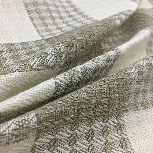 YOUR SMILE Retro Farmhouse Tartan Plaid Cotton Linen Square Decorative Throw Pillow Case Cushion Cover Pillowcase for Sofa 18 x 18 Inch, Set of 2 (Beige/New Checker) by YOUR SMILE (Image #4)
