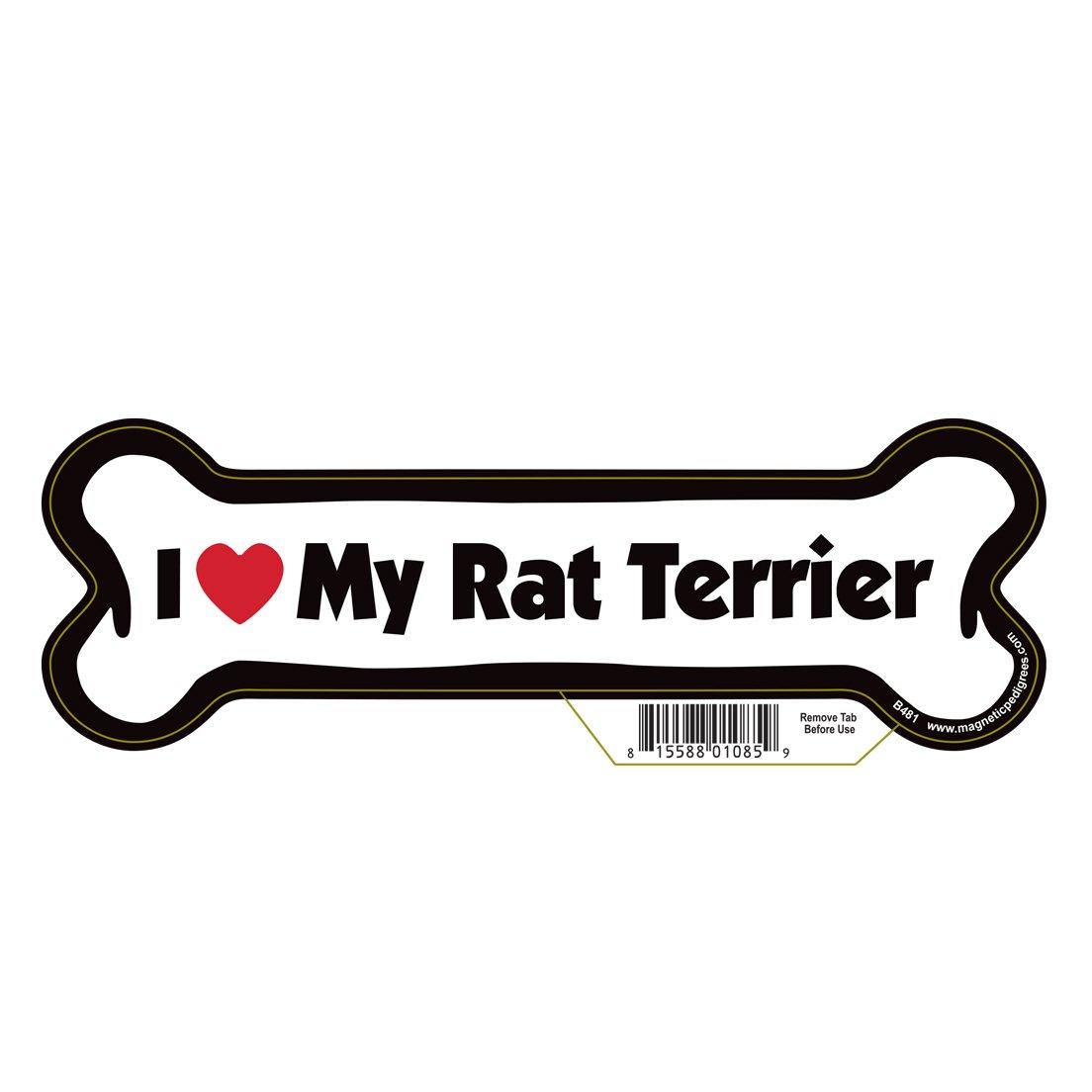 Rat Terrier Dog Bone Magnet