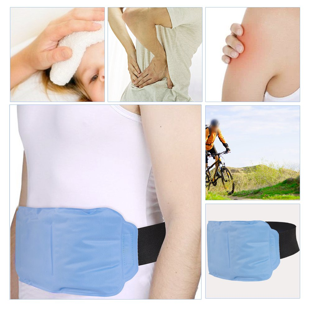 Zinnor Hot & Cold Therapy Back Gel Ice Pack Wrap for Back Knee Waist Shoulder Ankle Calves Hip Sport Hurt Pain Relief on Large Areas