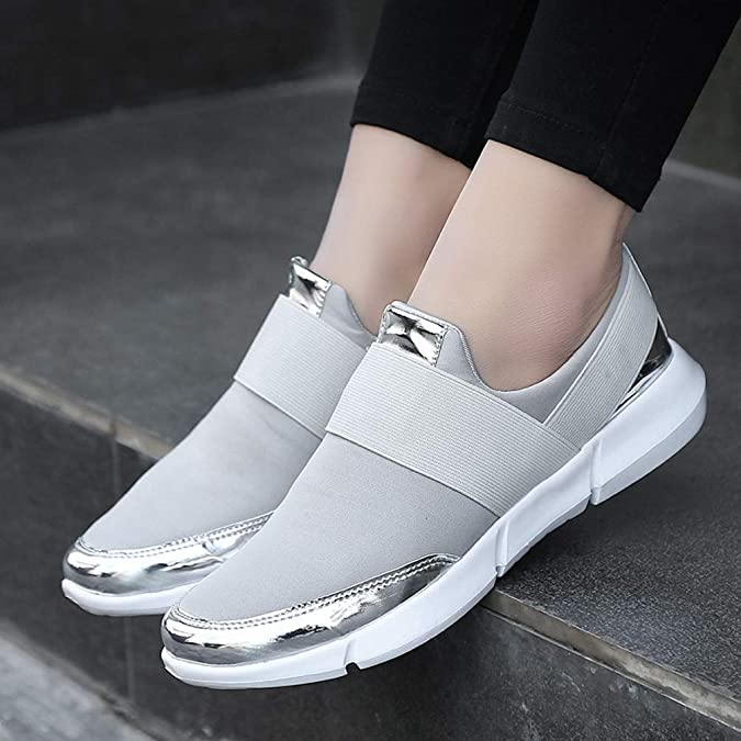 Amazon.com | Womens Casual Loafers Breathable Summer Casual Slip-on Flat Shoes Classic Sneakers Slip on Casual Shoes Flats Shoes | Loafers & Slip-Ons