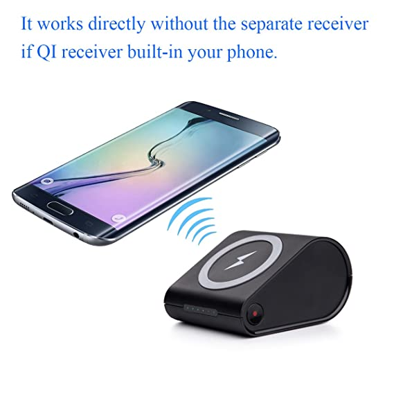 86ec036990fd2e JZBRAIN Wireless Charger and 10400mAh Portable Power Bank External Battery  2 in 1, Charge for