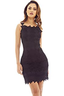 AX Paris Womens Sleeveless Crochet Dress