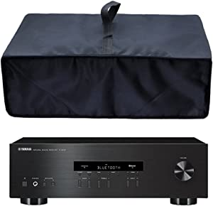 Wanty Black Antistatic Water-proof Dust-proof Nylon Fabric Printer Cover Case Protector for Yamaha R-S202BL / R-N301BL / RX-V681BL Stereo Receiver / Sony STR-DH540 / STR-DH100 Stereo Receiver