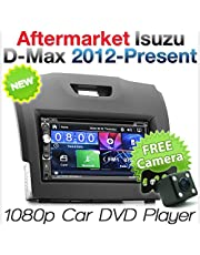 TUNEZ 7 Inches 2 Din Car Audio CD DVD USB MP4 MP3 Player for Isuzu D-Max MU-X and Holden Chevrolet Colorado 2nd Generation Stereo Radio Head Unit ISO Kit