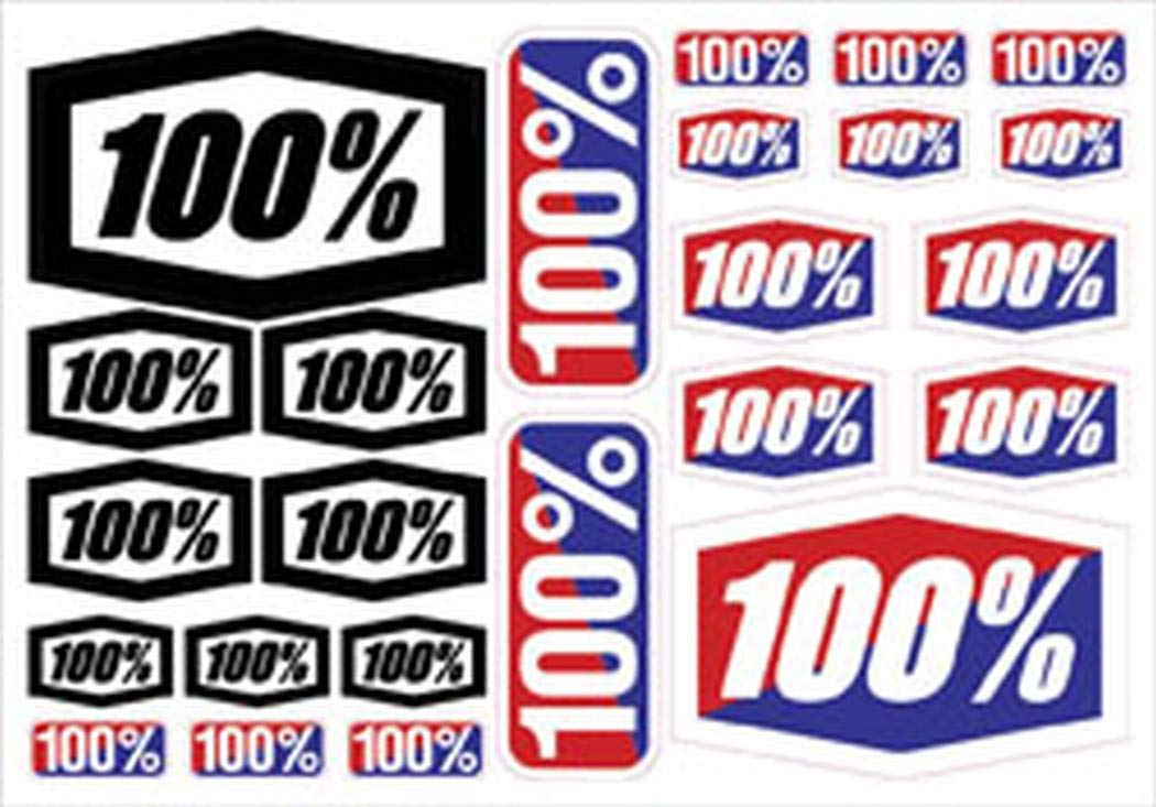 100% 100% Decal Sheet New 8 X 5 1/2 70000-011-01