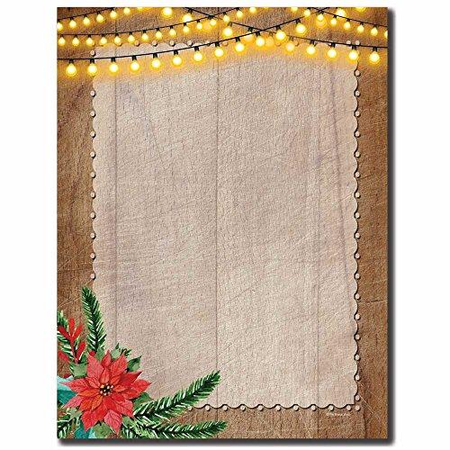 Rustic Holiday Letterhead Laser & Inkjet Printer Paper, ()