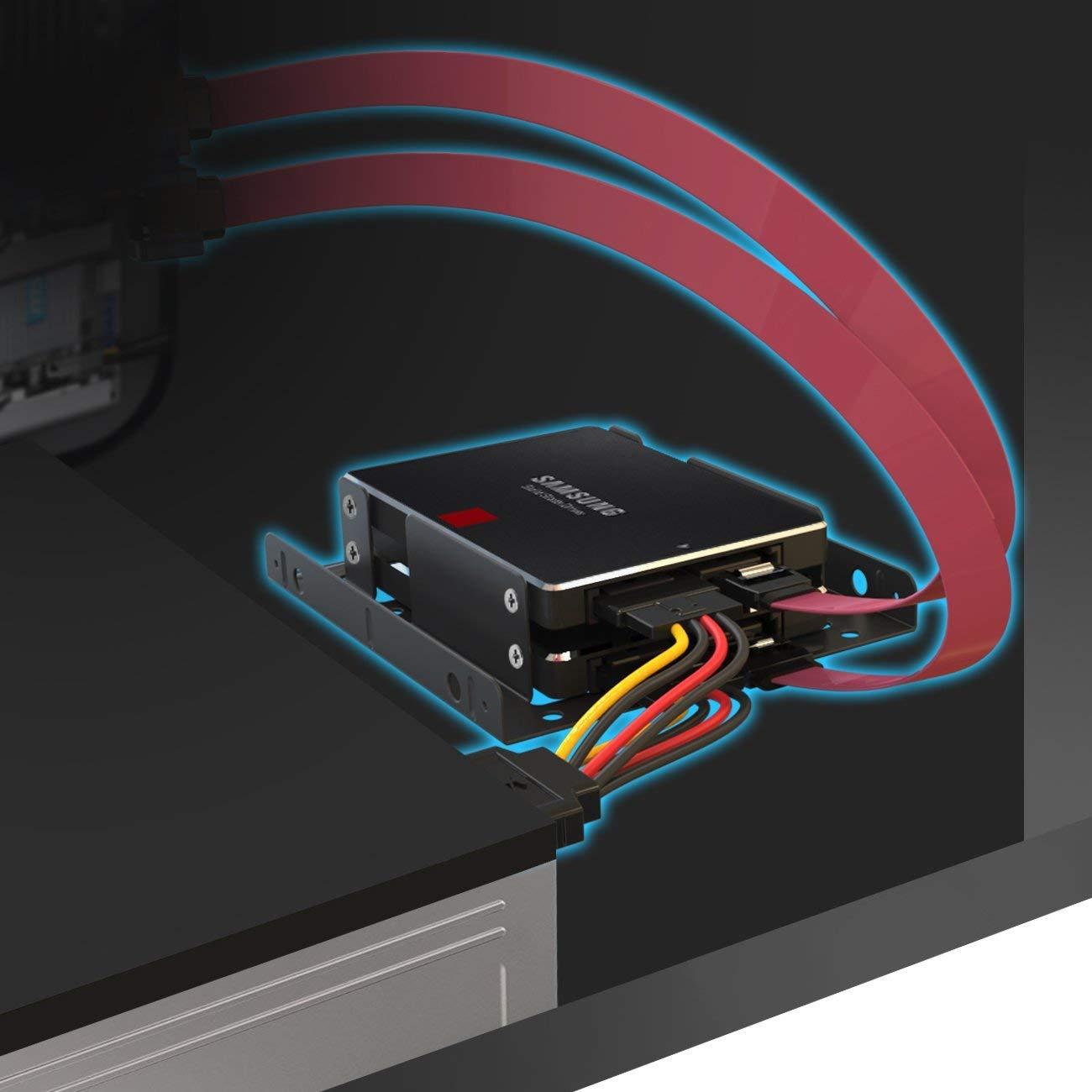 1x 4 Pin a 2X 15 Pin, 1x 15 Pin a 2X 15 Pin Inateck SSD//SATA III Cables 2X SATA Cables de Datos 48 cm y 2X Cables de alimentaciones 16 cm