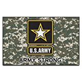 Fanmats Military  'Army' Black Knights Nylon Face Ultimat Rug