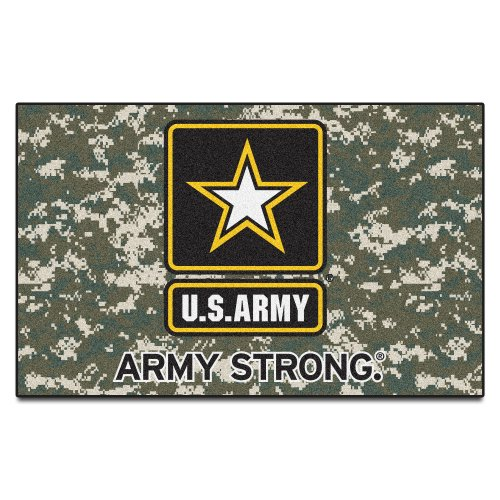 Fanmats Military  'Army' Black Knights Nylon Face Ultimat Rug by Fanmats