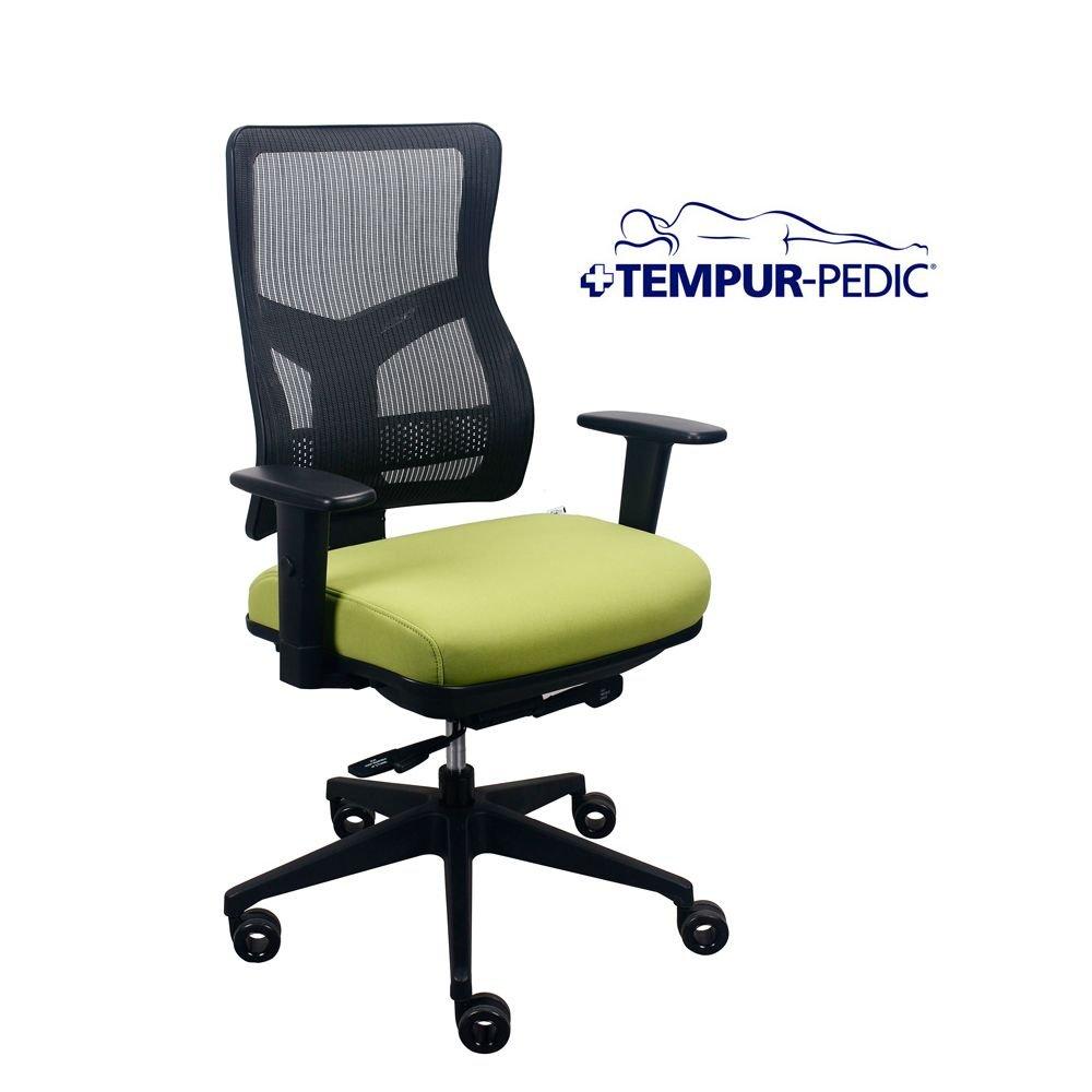 Comfort Seating Tempur-Pedic174. Task Chair with Mesh Back Dimensions: 26.5''W x 22.8-31.3''D x 39.7-45''H Seat Dimensions: 19.75''Wx16.5-18.5''D Meadow Fabric Seat/Black Mesh Back/Black Frame by TempurPedic