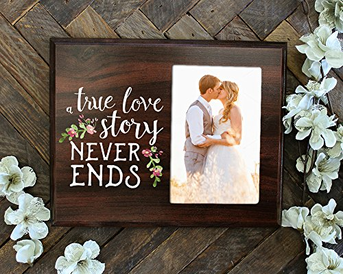 A True Love Story Never Ends Photo Frame