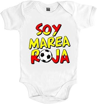 Body bebé Soy marea roja España fútbol - Blanco, 6-12 meses ...
