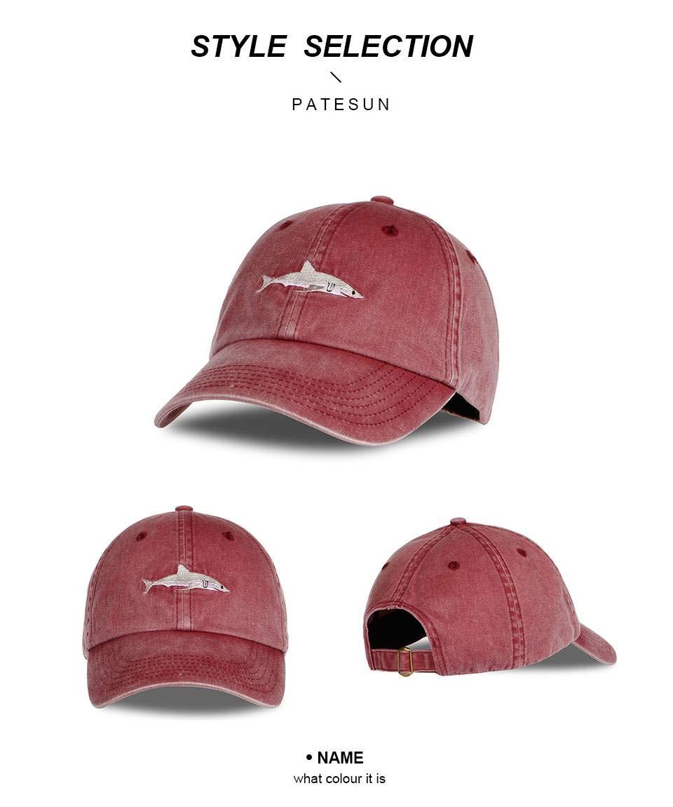 Amazon.com: QINGDs Baseball Cap Washed Shark Embroidery Gorras Planas Snapback Golf Bosco SPOR (Multi-Color,Adjustable): Home & Kitchen