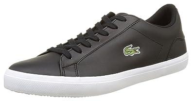 303b5e45b22a0 Lacoste Lerond BL 1 Cam Black White Leather Mens Trainers -10