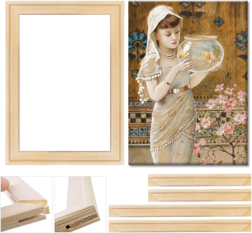 Art Stretcher Bars Set, DIY Canvas Frame, Solid Wooden Frame for Oil Paintings & Canvas Arts Accessory Supply, Home Studio Decor, 40.6x50.8cm/16