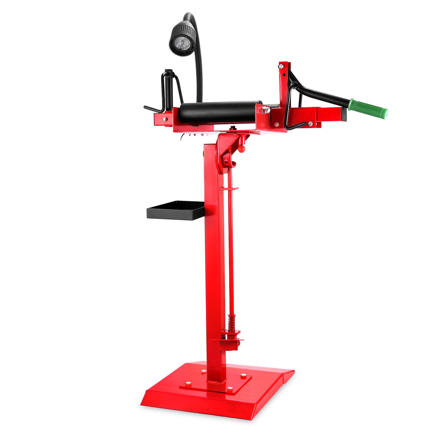 Mophorn Manual Tire Spreader Portable Tire Changer with Stand Adjustable LED Light Tire Spreader Tool for Light Truck and Car