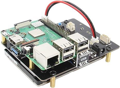 Geekworm Raspberry Pi 3 B+/3B SATA HDD/SSD Placa De Expansión ...