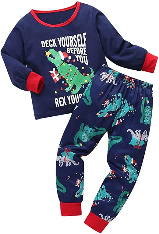 Voberry Matching Family Christmas Pajamas Boys Girls Tree Jammies Children PJs Gift Set
